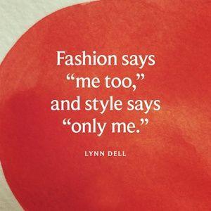 Fashion says